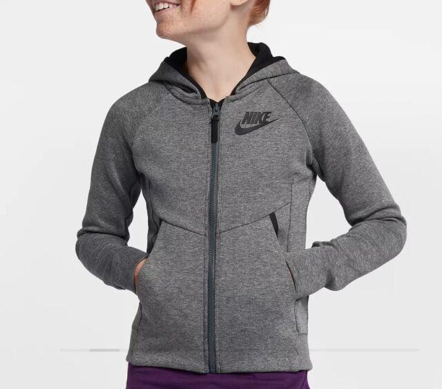 e25762df761e Nike Sportswear Girls Tech Fleece Hoodie Jacket Size Small 859993 091 S  Youth