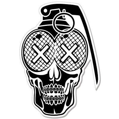 Skull Grenade Sticker Decal