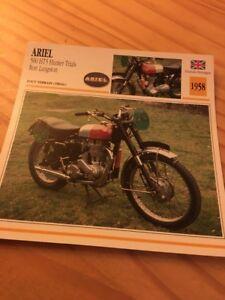 Ariel-500-HT5-Hunter-ensayos-Ron-Langston-1958-Tarjeta-motorrad-Coleccion-Atlas