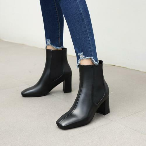 Details about  /Womens Ladies Ankle Boots Block Heel Autumn Smart Office Work Casual 47 48 49 D