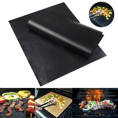 3pcs Reusable Non-Stick Barbecue Baking Bake Meat BBQ Grill Mat/Sheet Resistant