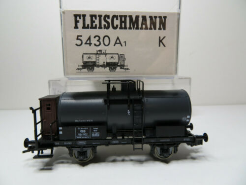 201HO Fleischmann H0 5430 A 1 K Kesselwagen m top in OVP Brhs schwarz ÖBB