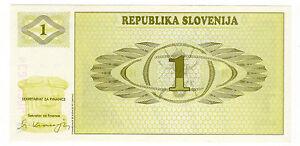 *slowenien 1 Tolarjev Banknote 1992 * Moderne Techniken