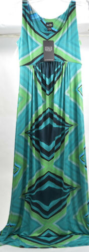 Olian s Green Chevron 4 Dress Maxi Gown Nordstrom Blue Maternity Print 6 W16axAnzH