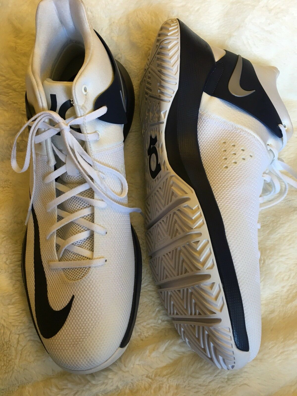 best authentic efe64 3e18b nike zoom kd trey trey trey 5 iv blanc bleu basketball les chaussures  taille 18 4a8de3