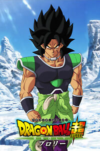 Details About Dragon Ball Super Poster Broly Movie 2018 12inx18in Free Shipping