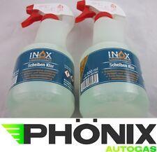 2x Inox Scheibenreiniger Glasreiniger Scheiben Reiniger Pumpsprühflasche 500ml