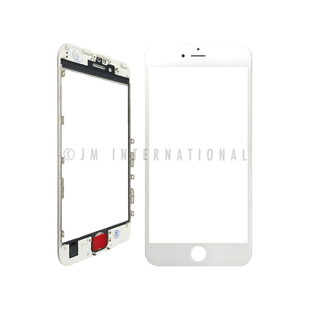 Touch Screen Lens Glass With Frame White Replacement Part for iPhone ...