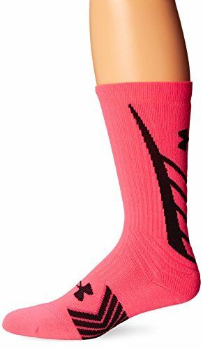 1 Pair Cerise//Black Large Under Armour Men/'s Undeniable All Sport Crew Socks