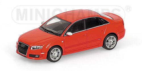 Minichamps 1 43 400 014600 AUDI RS 4 4 4 - 2005 - rojo Metallic NEW b21c35