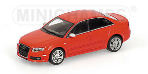 Minichamps-1-43-400-014600-AUDI-RS-4-2005-Red-Metallic-NEW