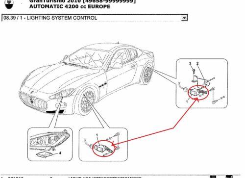 Maserati Granturismo Scheinwerfer Höhensensor LIGHT ADJUSTINGPOTENTIOMETER