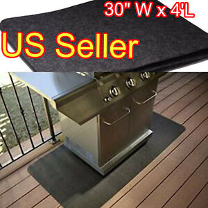 Bbq Gas Grill Pad Mat Floor Protective Deck Protector Rug Outdoor Splatter Large 744759637772 Ebay