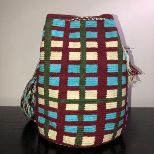 automne de colombien à Sac hiver Wayuu carreaux taille 100authentique moderne Mochila grande HYWe2D9bEI