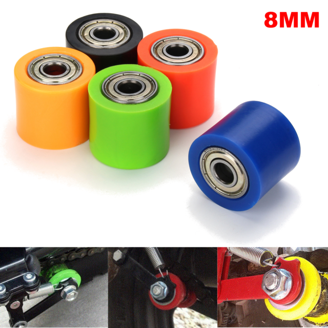 8mm//10mm Chain Roller Pulley Slider Tensioner Wheel Guide Pit Dirt Mini Bike ATV