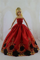 Fashion Handmade Princess Dress Wedding Clothes Gown For Barbie Doll Gifts Ay16