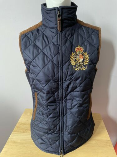 Polo Ralph Lauren Quilted Suede Leather Navy Crest