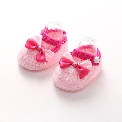 Casual Newborn Girls Handmade Crib Crochet Knit Shoes Baby Infant Sock Soft Sole