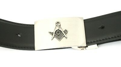 Zielsetzung Masonic Belt And Buckle Set Black Leather Ideal Masonic Gift Wc 230 Neueste Technik