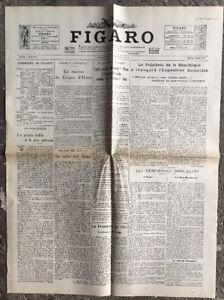N141-La-Une-Du-Journal-Le-Figaro-7-Mai-1931