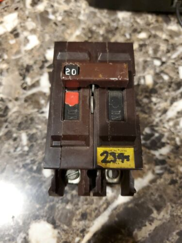 Wadsworth 20 Amp Double Pole Circuit Breaker