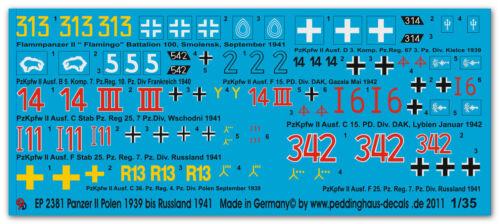 Peddinghaus 2381 1//35 Panzer II 1939-1941 Polen bis Rußland