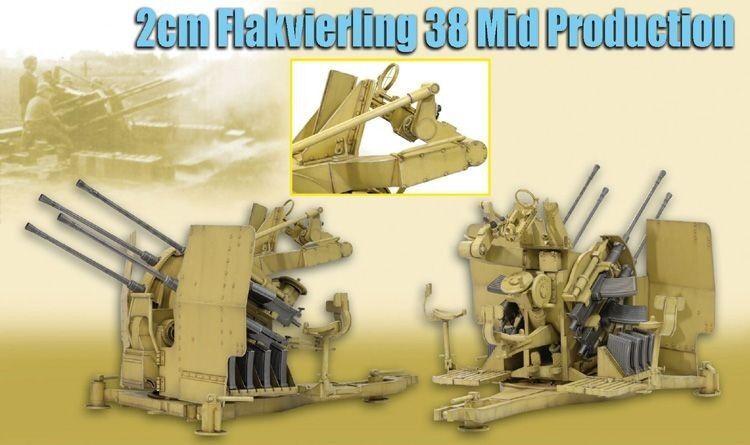 Drachen im zweiten weltkrieg 1   6 - skala 12  deutsche 2cm flakvierling 38 mitte produktion flak 71439
