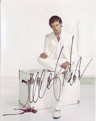 Hall Signed Dexter Photo W/ Hologram Coa Television Entertainment Memorabilia Purposeful Michael C