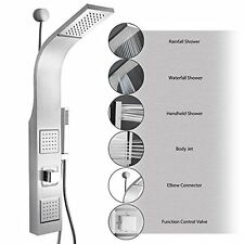"""Multi Function Stainless Steel Wall Mount Shower Tower Panel Massage Spray - 39"""""""