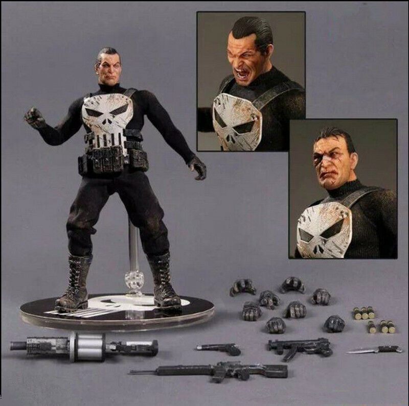 2018 Antihero Punisher 6'' Movable Action Figure Statue PVC Toy Gift Collection