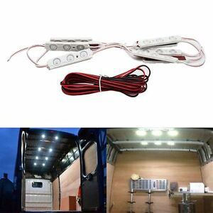 Ultra-Bright-Car-LED-Light-Kit-10-LED-Interior-Lamp-For-LWB-Van-Transit-New