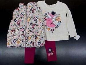 Bébé/filles Flapdoodles $57 - $59 3pc Floral Débardeur/chemise/leggings Set Sz 2 T - 6x-gings Set Sz 2t - 6xafficher Le Titre D'origine