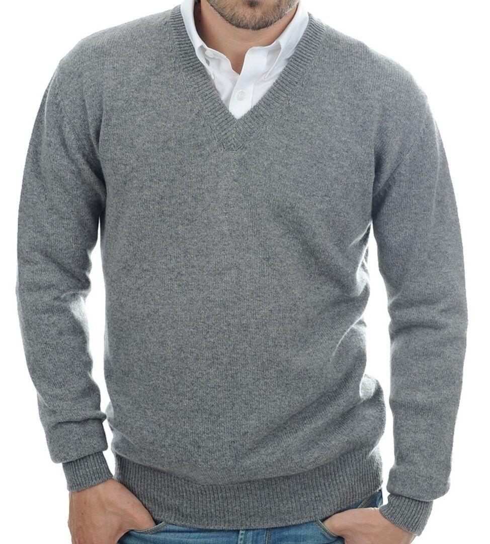 Balldiri 100% Cashmere Kaschmir Herren Herren Herren Pullover V-Ausschnitt 4-fädig grau M     | Feinbearbeitung  | Passend In Der Farbe  | Hohe Qualität  | Zarte  | Billig ideal  ab1618