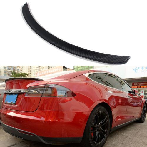 Fits Tesla Model S Sedan Carbon Fiber Rear Trunk Spoiler Wing glossy 2012-2019