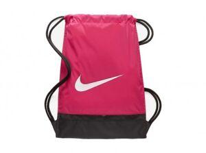 f6bec2442d05 Image is loading Pink-Nike-Brasilia-Drawstring-Gym-Bag-School-Backpack-