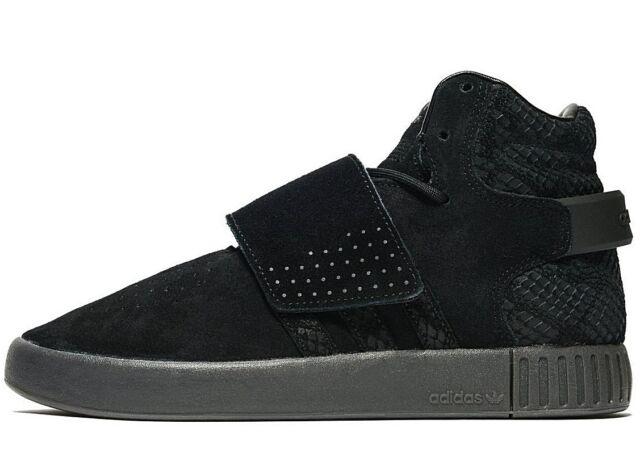 5007d6c9d13d Adidas Originals Tubular Invader Strap ® ( Sizes UK 3   4 ) Full Black Suede
