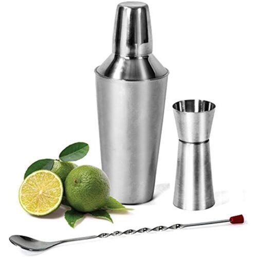 Cocktail Shakers Shaker Set 24 Oz Mojito Kit Martini Shaker Built Strainer, 3