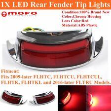 Custom Dynamics Chrome smoked LED rear fender tip light 09-16 Harley FLHTC