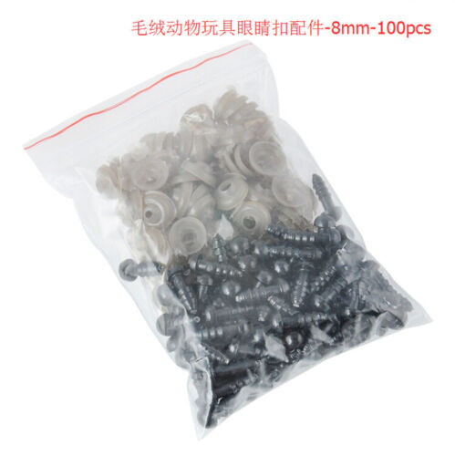 100pcs Bag Black Plastic Safety Eyes For Teddy Bear//Dolls//Toy Animal//Felting Hot