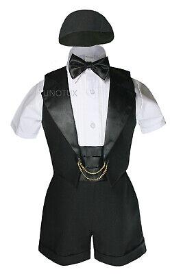 Baby Shower Boy Easter Church Christening Baptism Formal Tuxedo Suits Black 0-2T