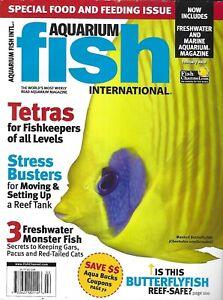 Aquarium Fish International Magazine Tetras Butterflyfish Moving Setting Up Tank