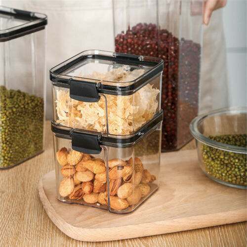 Cereal Containers Airtight Food Storage Kitchen Pantry Pasta Box Set With Lid 7