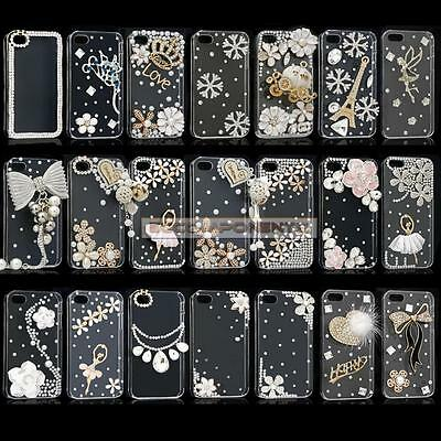 Luxury 3D Crystal Diamond Bling Clear Hard Case For iPhone4S/5S/5C/6 6s +/7 7+