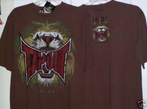 20 NWT  #15 Tapout MMA Brown Lion King Shirt Boys Size XL 18