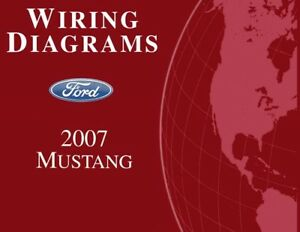2007 ford mustang wiring diagrams schematics drawings color codes factory  oem | ebay  ebay