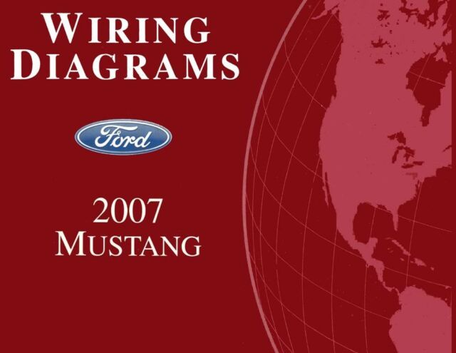 2007 ford mustang wiring diagrams schematics drawings color codes factory  oem