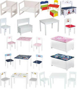 roba kinder sitzgruppe m bel tisch stuhl sitzbank truhe ebay. Black Bedroom Furniture Sets. Home Design Ideas