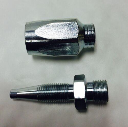 Hidráulica Reutilizable Manguera Kit De Reparación De 1//2 r1at /& 1sn Manguera X 1//2 Bsp Macho insertar