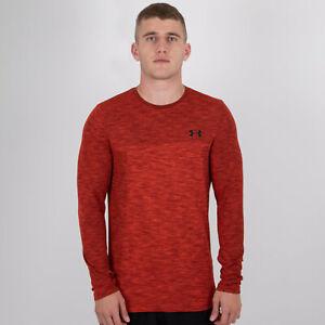 estilo popular baratas nuevo estilo de vida Under Armour Mens Siphon Long Sleeve Training Top Red Sports ...
