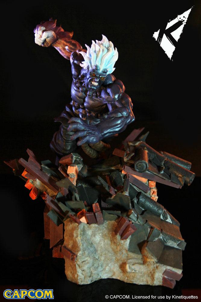 Street Fighter Diorama 1 6 Oni Akuma heo EU Exclusive 45 cm Kinetiquettes Statue